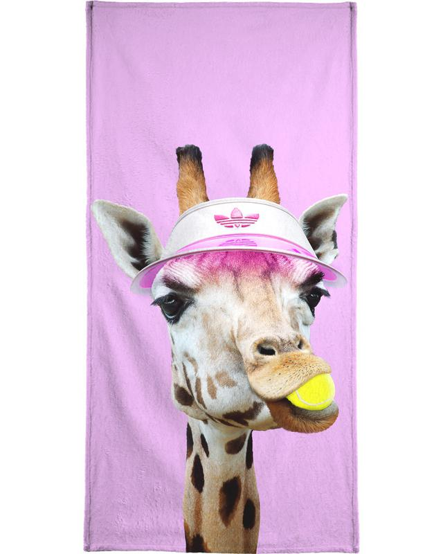 Tennis Giraffe Bath Towel