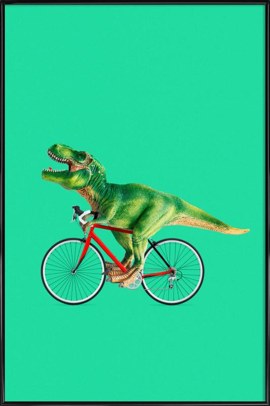 T-Rex Bike Framed Poster