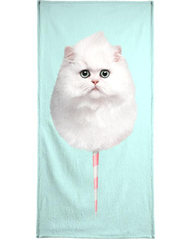 Cotton Candy Cat -Handtuch