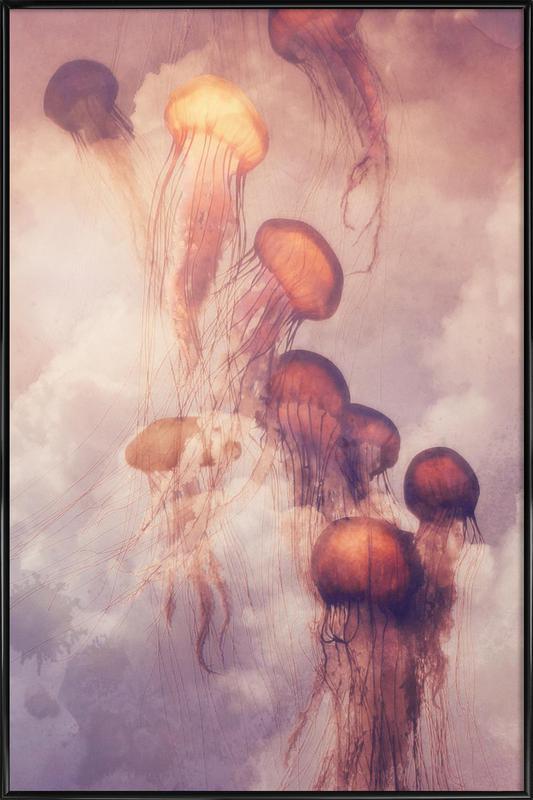 Jellyfish Sky Framed Poster
