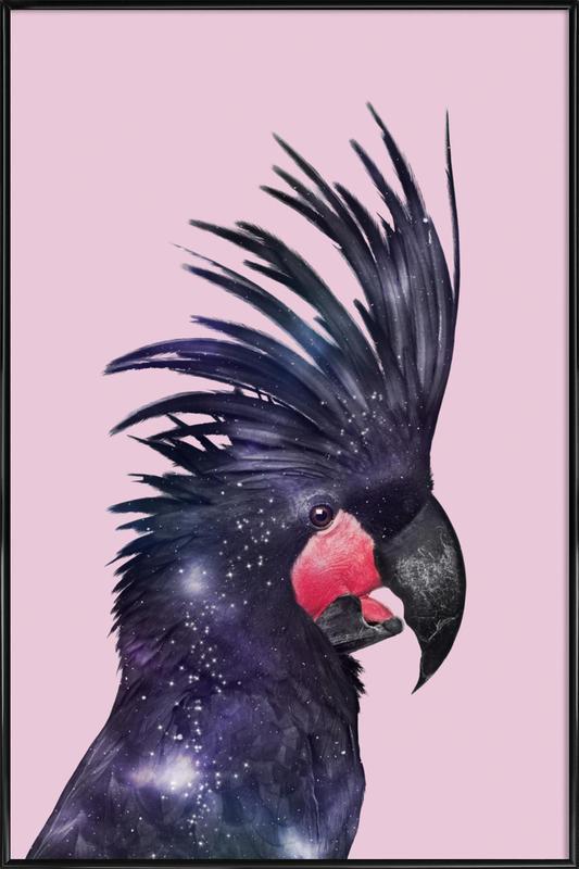 Galaxy Bird Gerahmtes Poster
