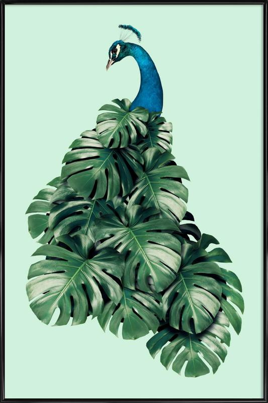 Monstera Bird Gerahmtes Poster
