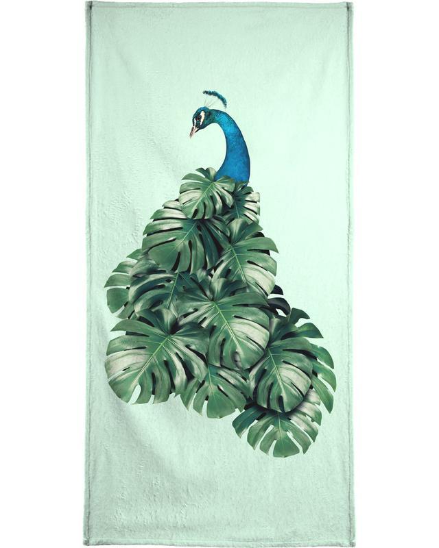 Monstera Bird Handtuch