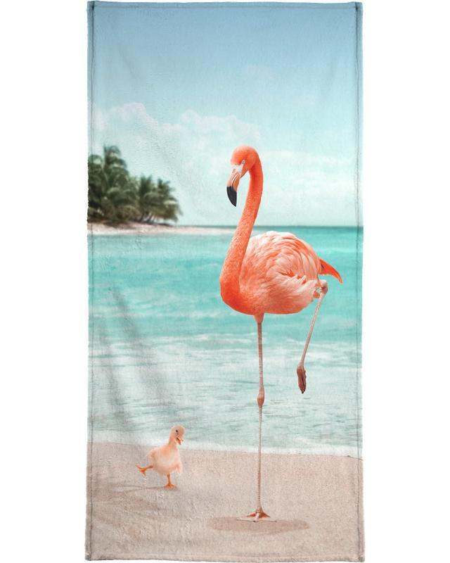 Wannabe Flamingo Strandtuch | Bad > Handtücher > Saunatücher | Mehrfarbig