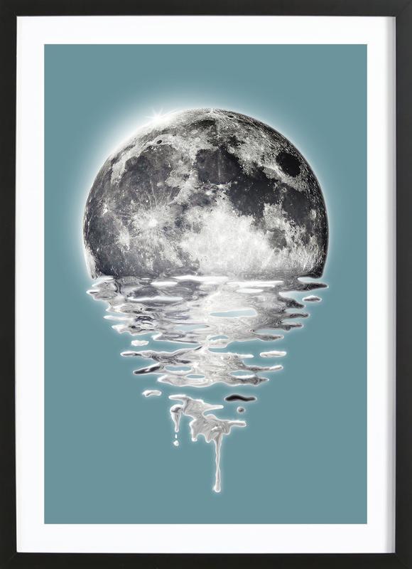 Melting Moon Framed Print