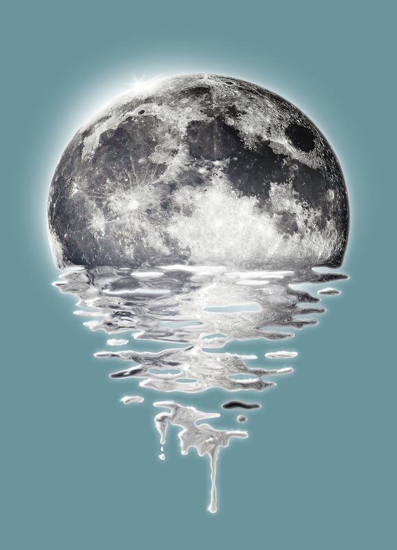 Melting Moon Canvas Print