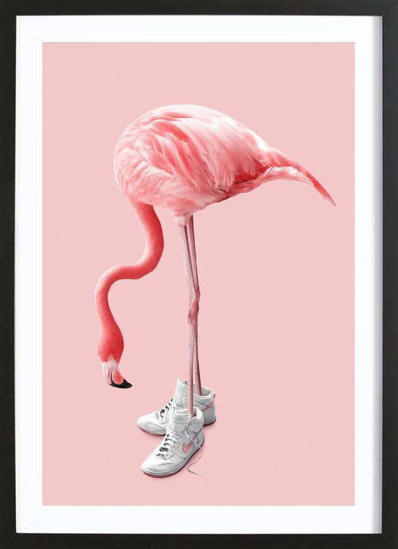 Sneaker Flamingo Framed Print