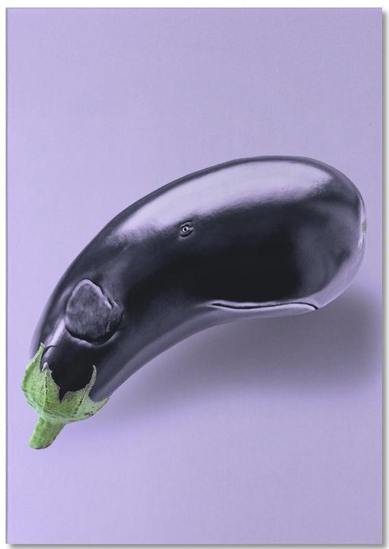 Eggplant Whale -Notizblock