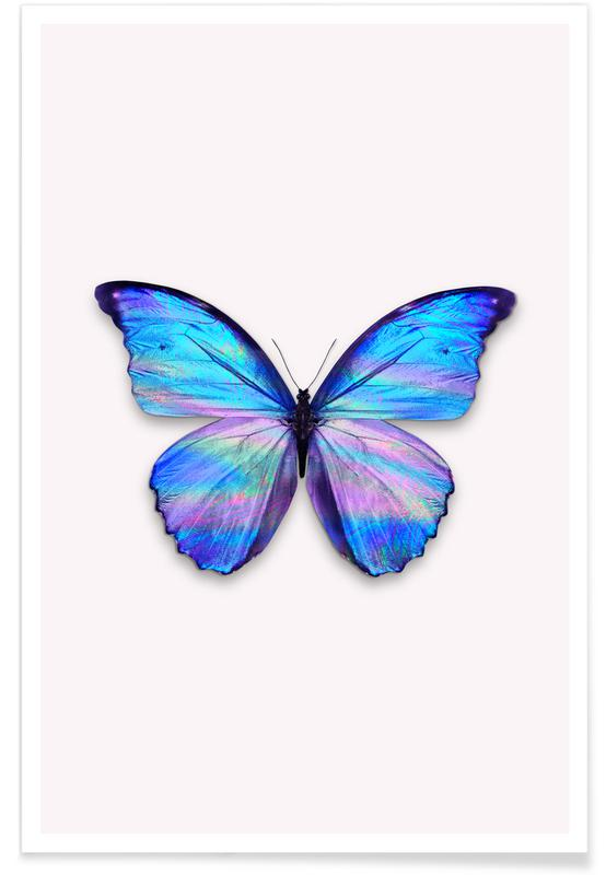 Holographic Butterfly Poster