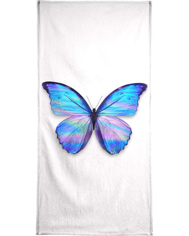 Holographic Butterfly Beach Towel