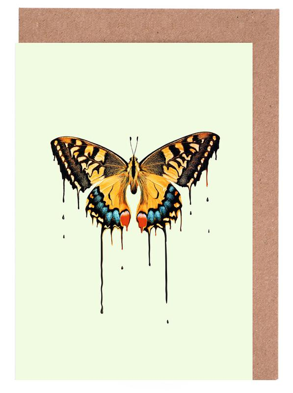 Melting Butterfly -Grußkarten-Set