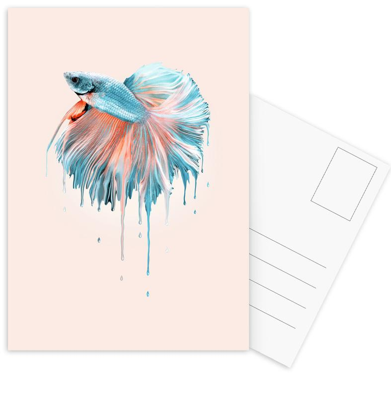 Melting Fish Postcard Set