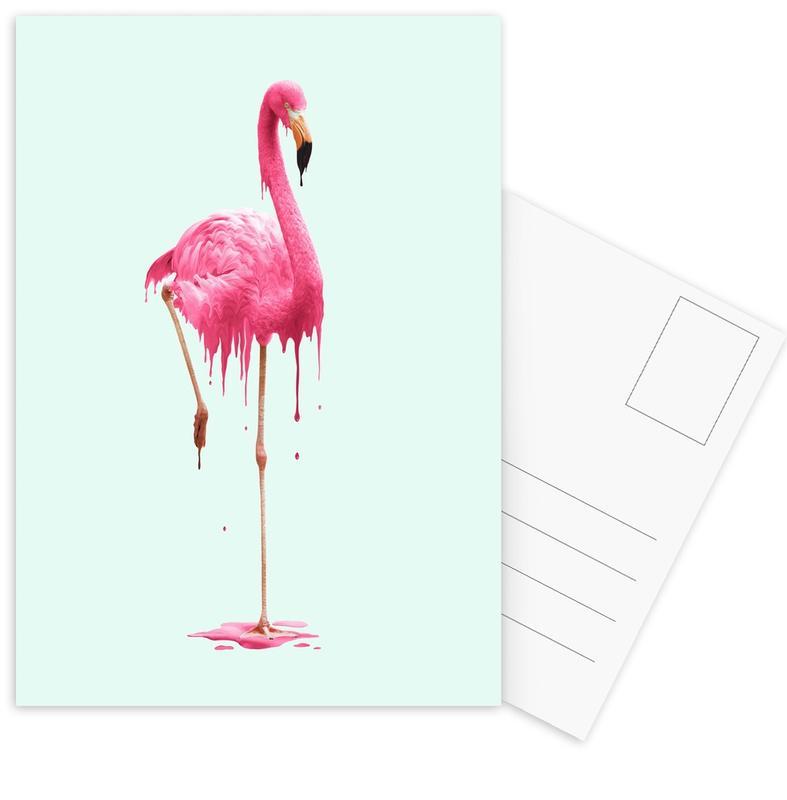 Melting Flamingo -Postkartenset