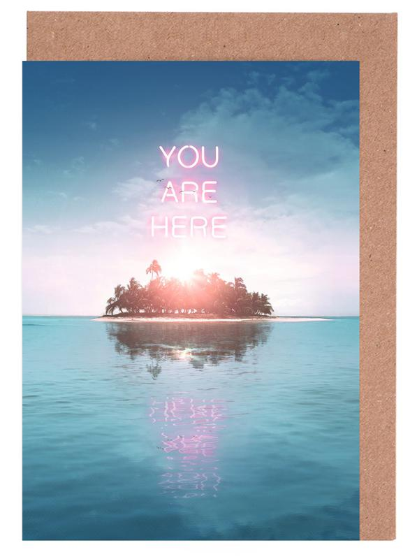 You Are Here Greeting Card Set