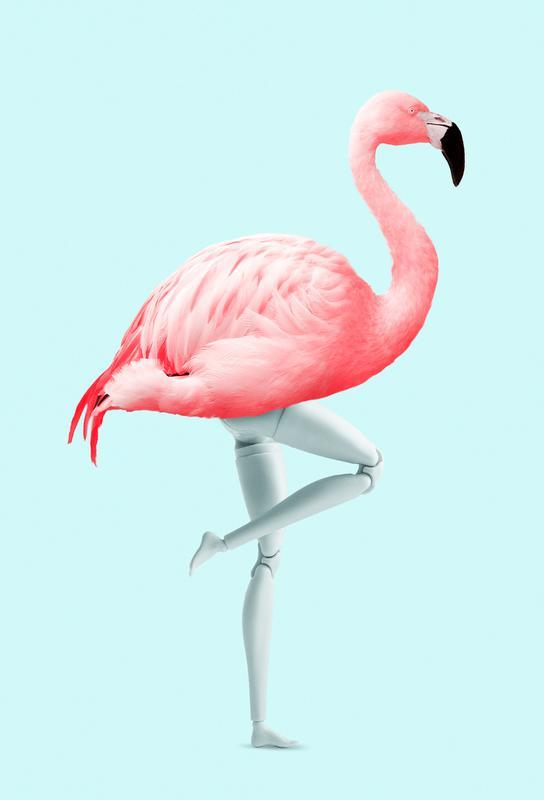 Flamingo Mannequin Aluminium Print