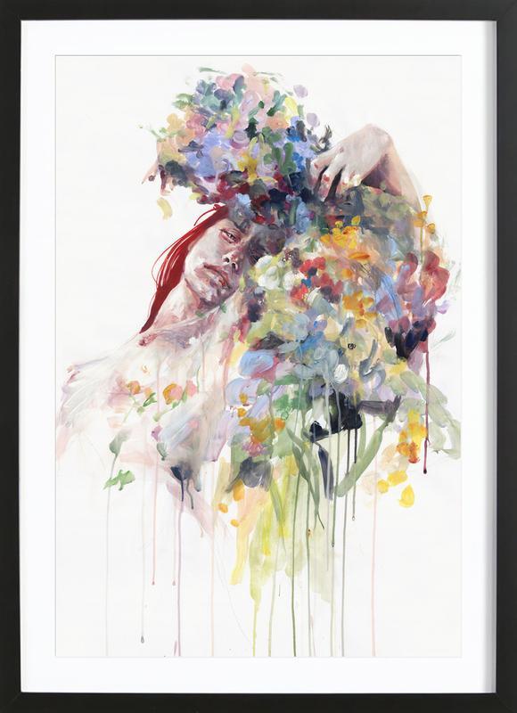 Scentless Flowers -Bild mit Holzrahmen