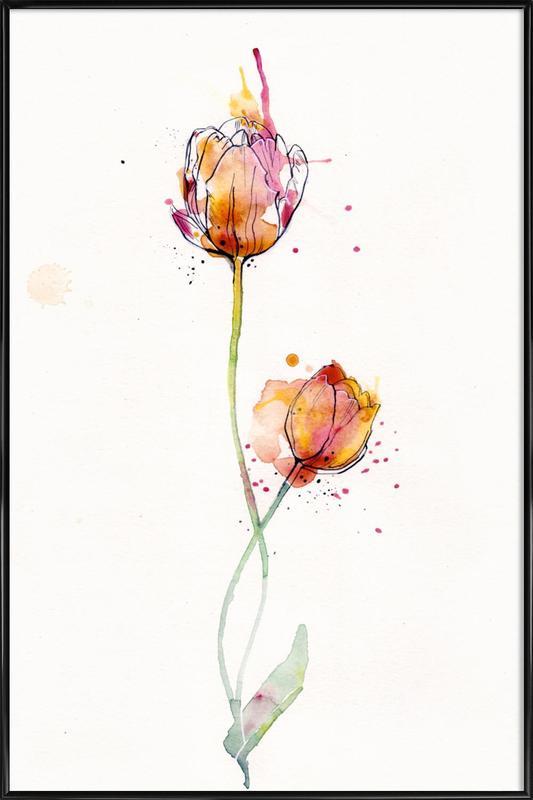 Tulip ingelijste poster