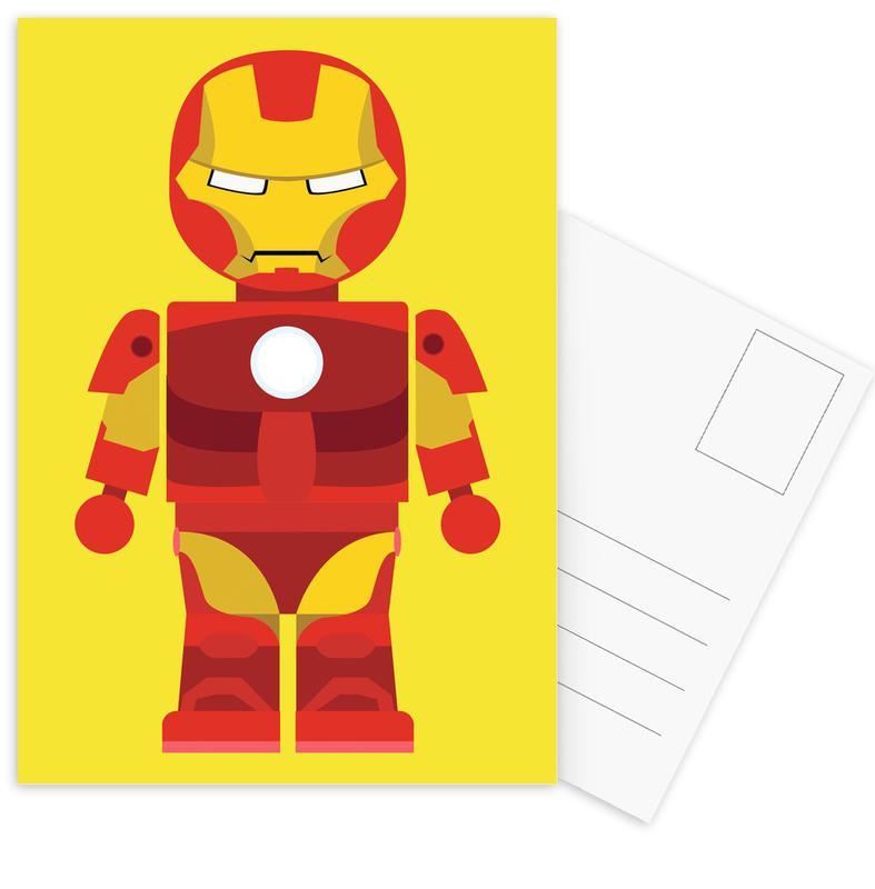 Iron Man Toy -Postkartenset