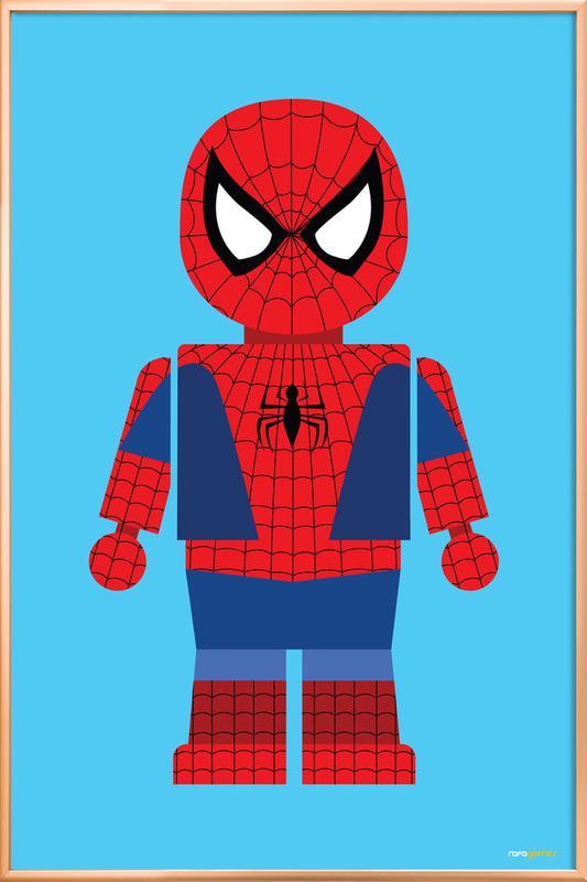 Spiderman Toy poster in aluminium lijst
