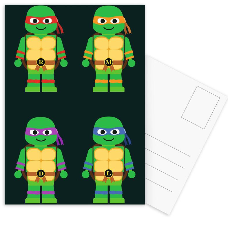 Teenage Mutant Ninja Turtles -Postkartenset