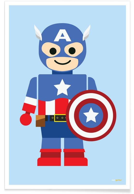 Captain America Toy Poster