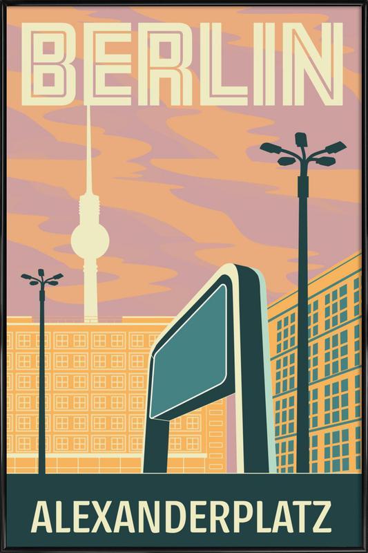 Berlin Alexanderplatz Sonnenuntergang Gerahmtes...