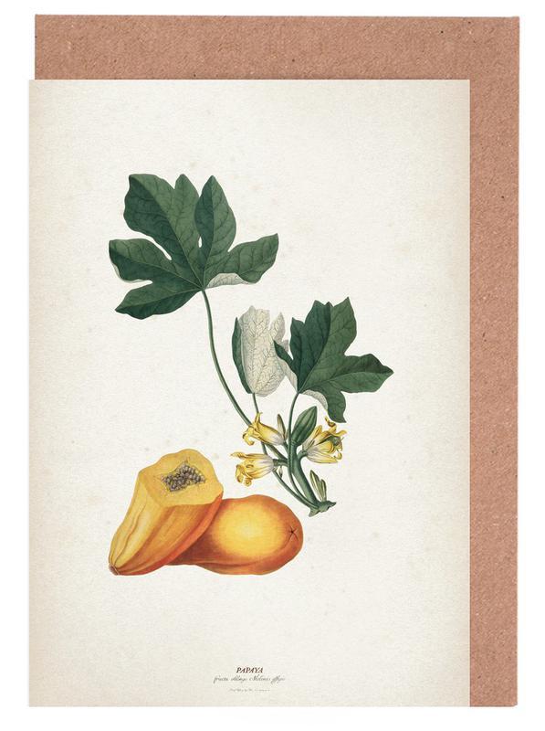Papaya - Ehret -Grußkarten-Set