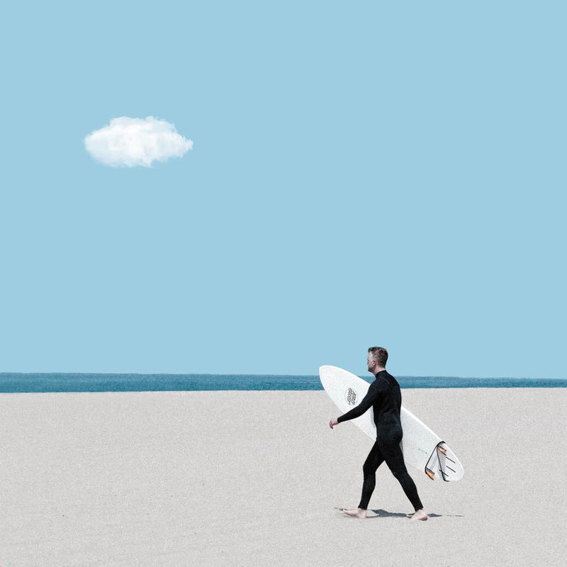 Beach Time Aluminium Print