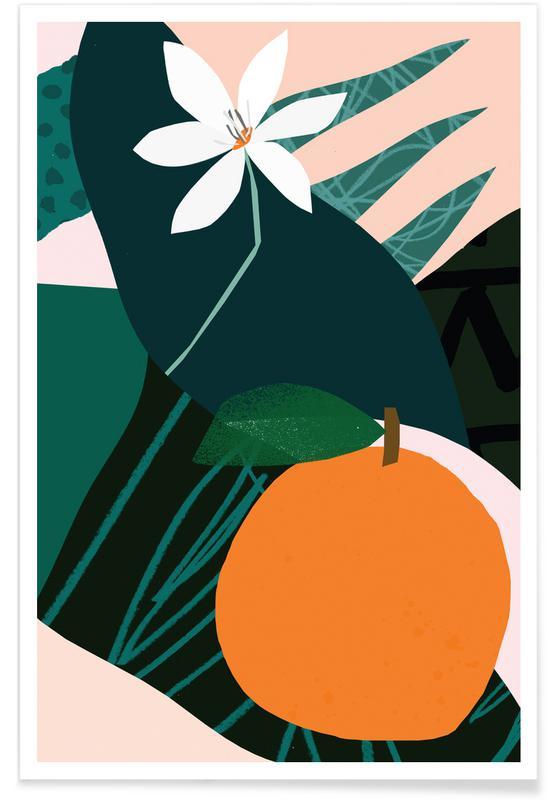 Orange Premium Poster   Dekoration > Bilder und Rahmen > Poster   Mehrfarbig