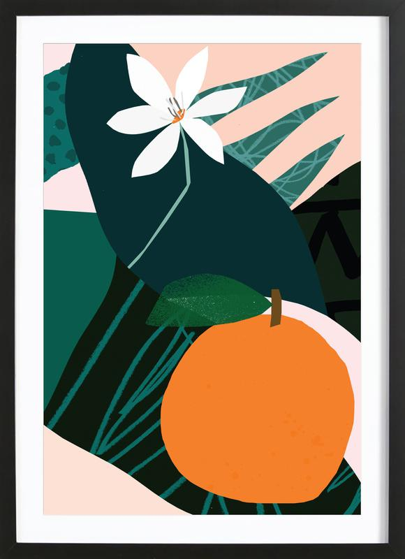 Orange ingelijste print