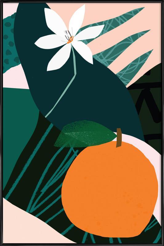 Orange Gerahmtes Poster | Dekoration > Bilder und Rahmen > Poster | Mehrfarbig
