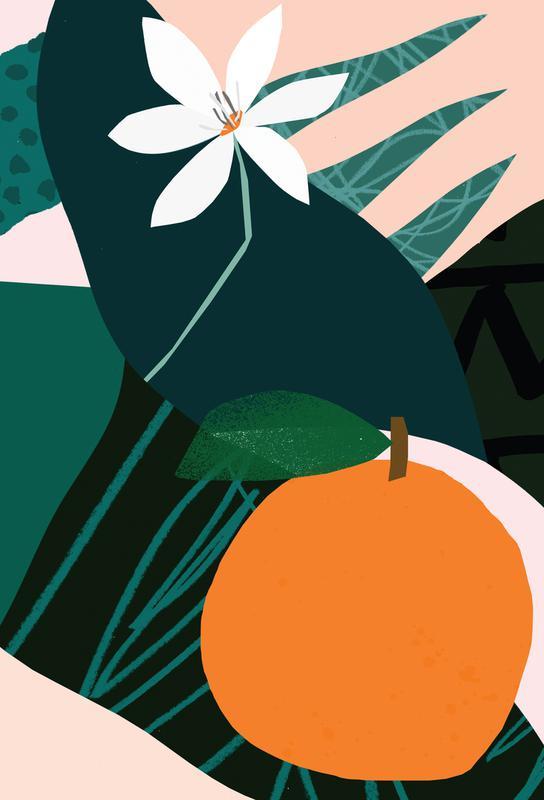 Orange Alu Dibond Druck | Dekoration > Bilder und Rahmen > Poster | Mehrfarbig | Aluminium
