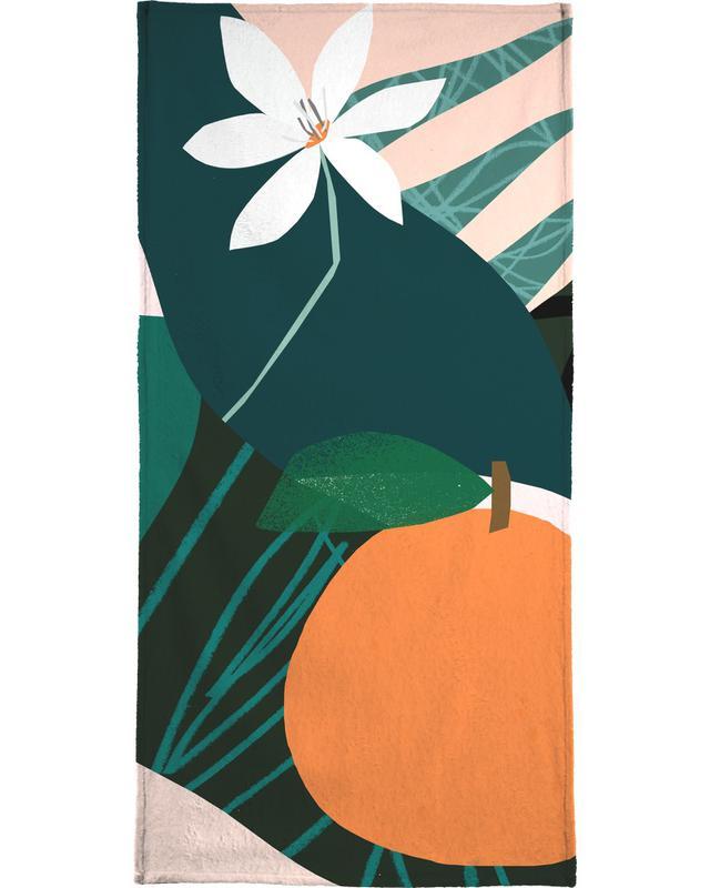Orange Handtuch | Bad > Handtücher > Handtuch-Sets | Mehrfarbig