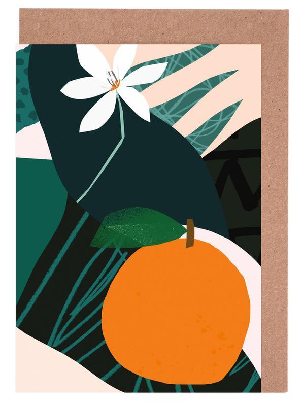 Orange Grußkartenset | Dekoration > Accessoires | Mehrfarbig