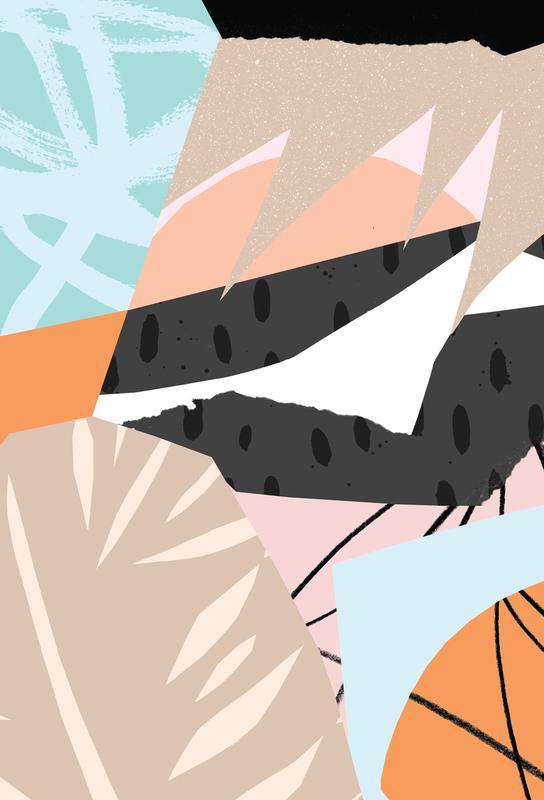 Scandi Alu Dibond Druck | Dekoration > Bilder und Rahmen > Poster | Mehrfarbig | Aluminium
