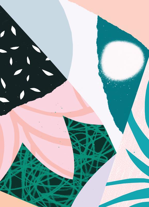 Ambience Leinwandbild | Dekoration > Bilder und Rahmen > Bilder | Mehrfarbig | Holz