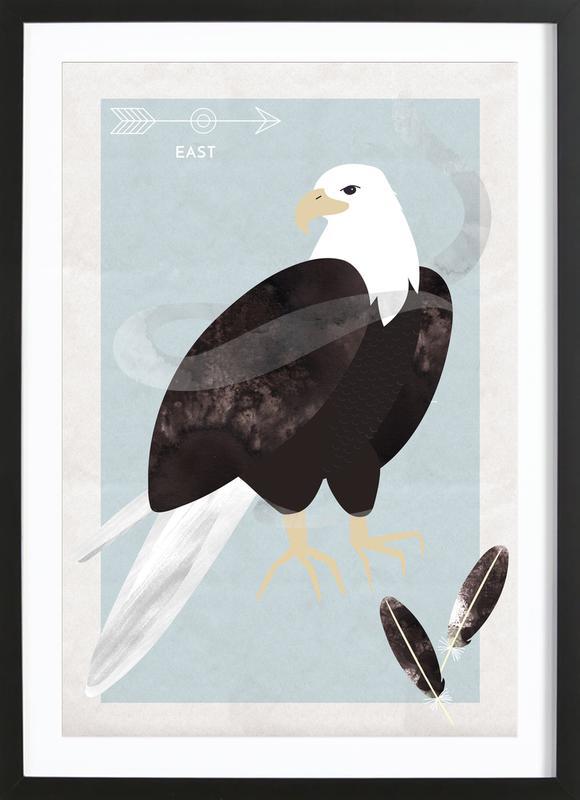 Spirit Animal - Eagle affiche sous cadre en bois