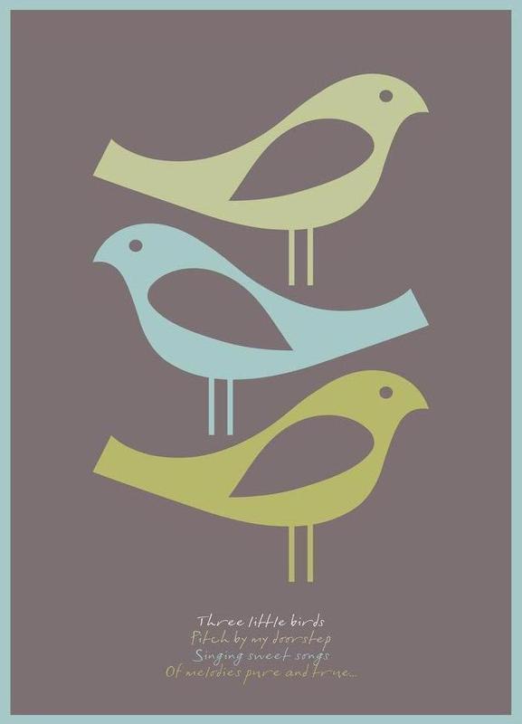 Three little birds -Leinwandbild