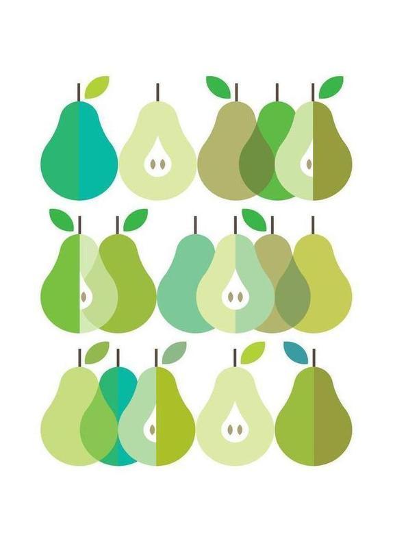 Scandi pears 1 visual philosophy leinwandbild