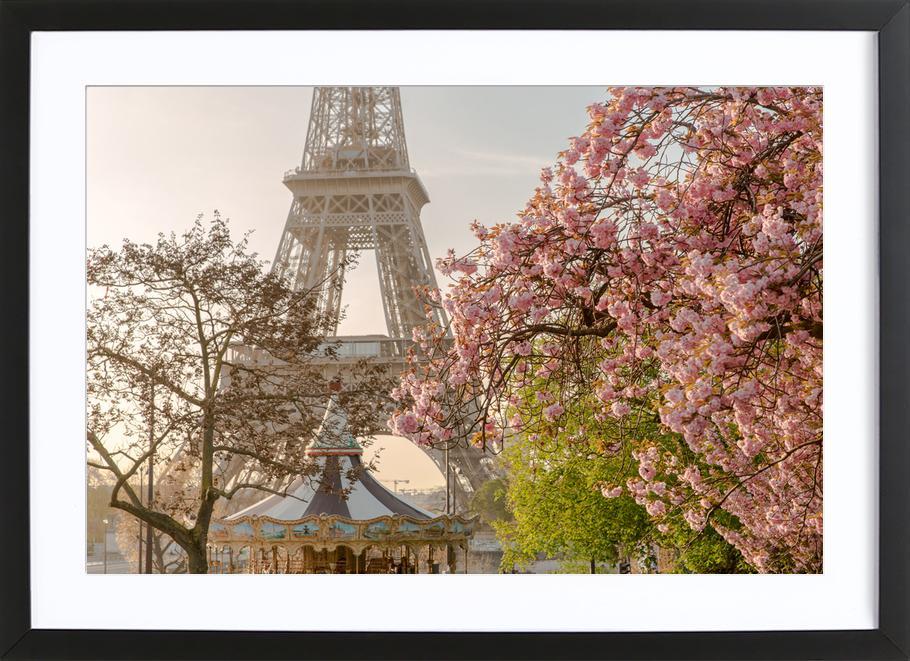Cherry Blossom -Bild mit Holzrahmen