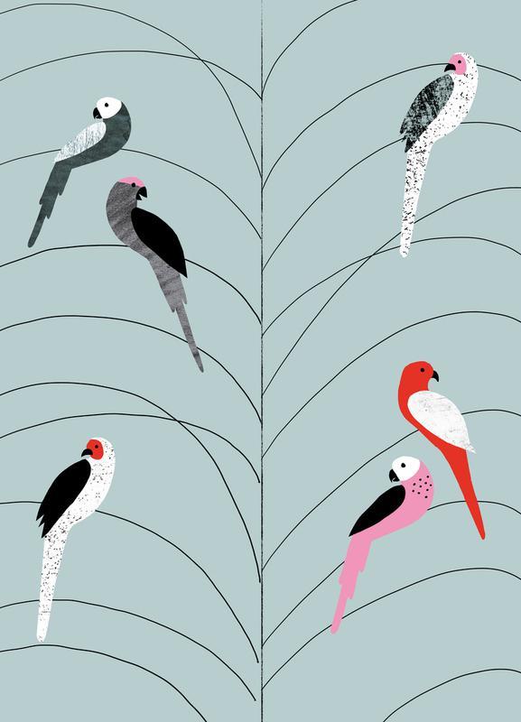 Tropicana - Birds on Branch Grey toile