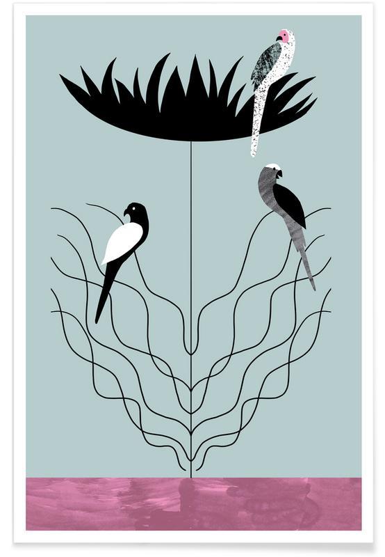 Grande fleur - Illustration affiche