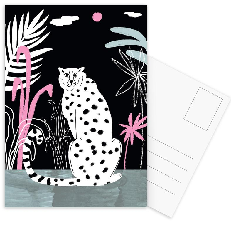 Tropicana Cheetah and Jungle Postkartenset | Dekoration > Accessoires | Mehrfarbig
