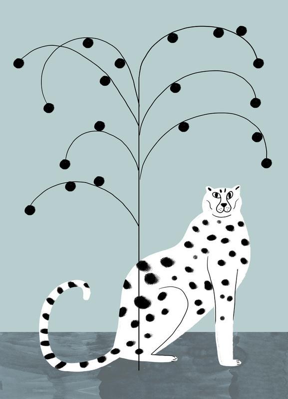 Tropicana - Cheetah and Tree Canvas Print