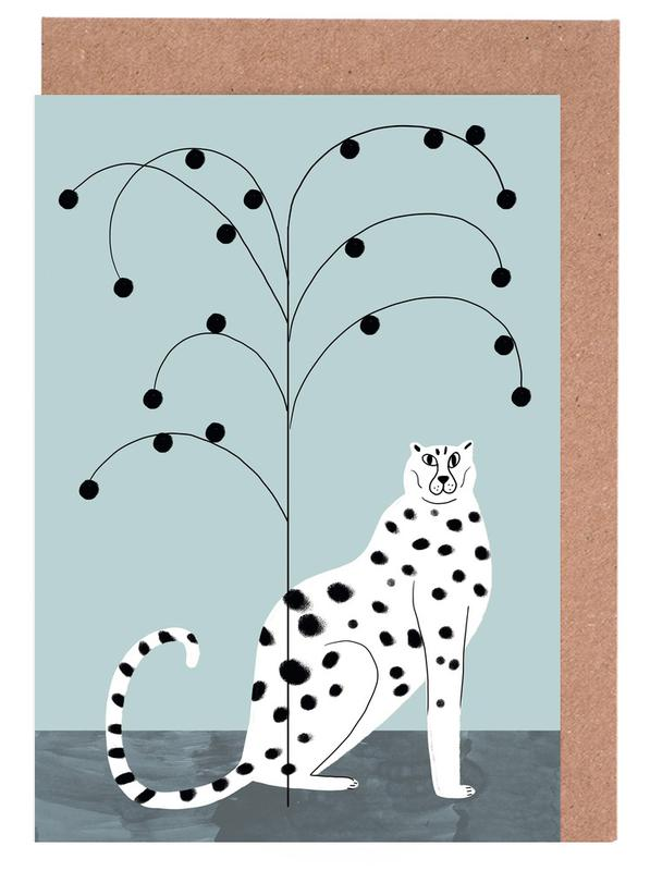 Tropicana - Cheetah and Tree cartes de vœux