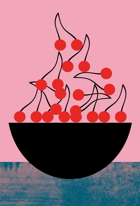 Cherry -Acrylglasbild
