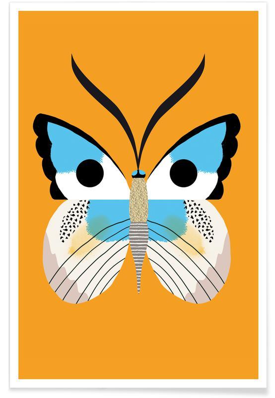Butterflies - Blue Morpho Poster