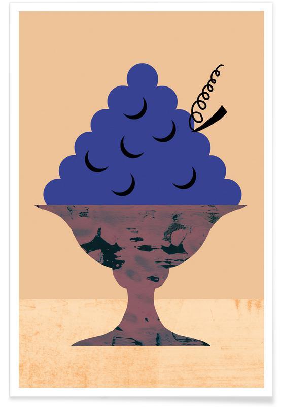 Grapes Illustration Poster