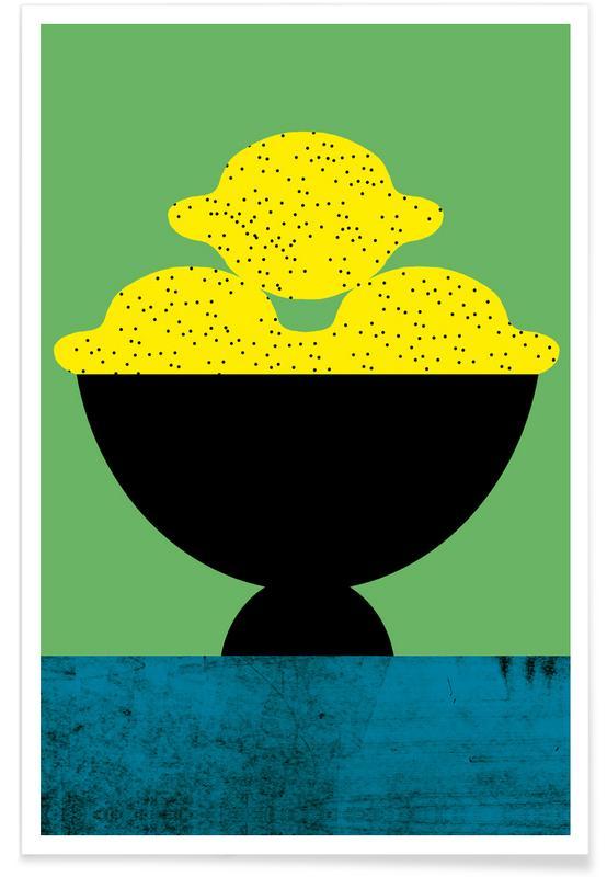 Lemon Illustration Poster