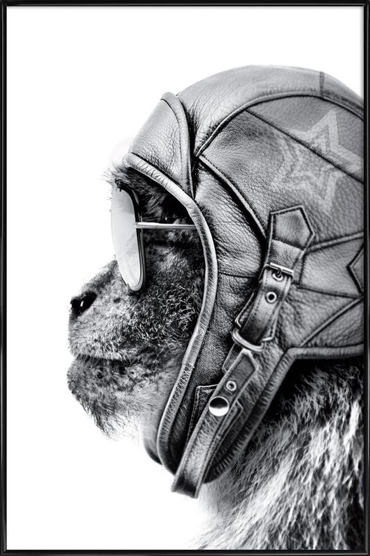 Aviator Monkey Framed Poster